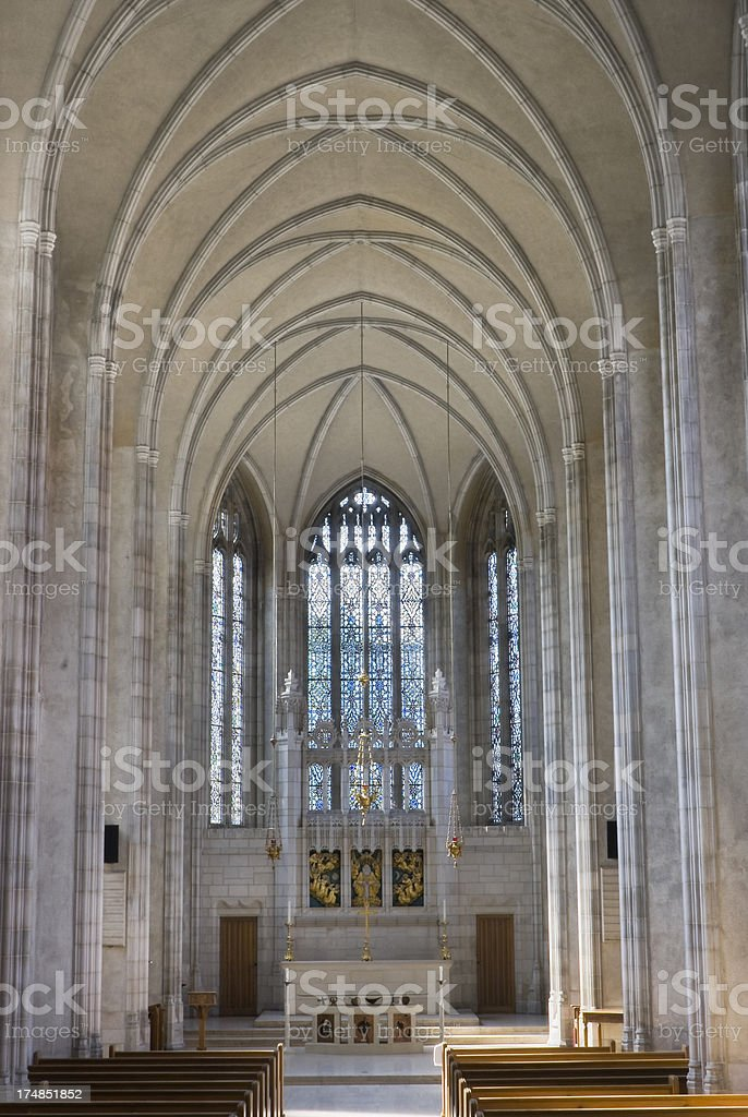 UofT - chapel interior stock photo