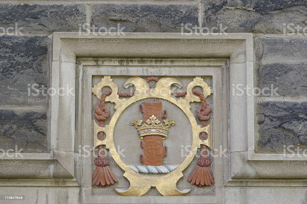UofT - decorative cornice -crown royalty-free stock photo
