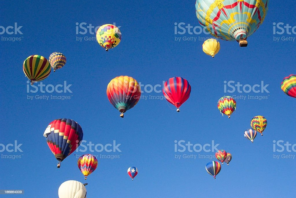 Up and Away.... My Beautiful Balloons royalty-free stock photo