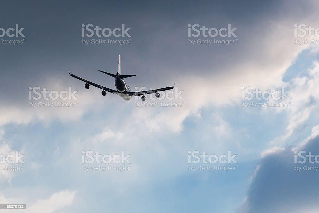 Et fly away dans le ciel photo libre de droits