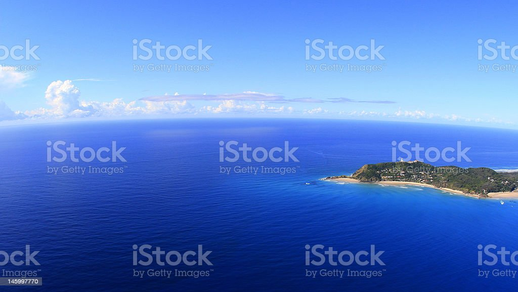 Up and high over the ocean stock photo