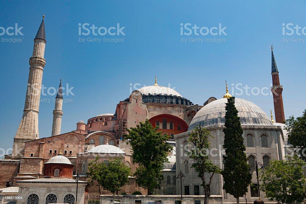 Up at Hagia Sophia stock photo