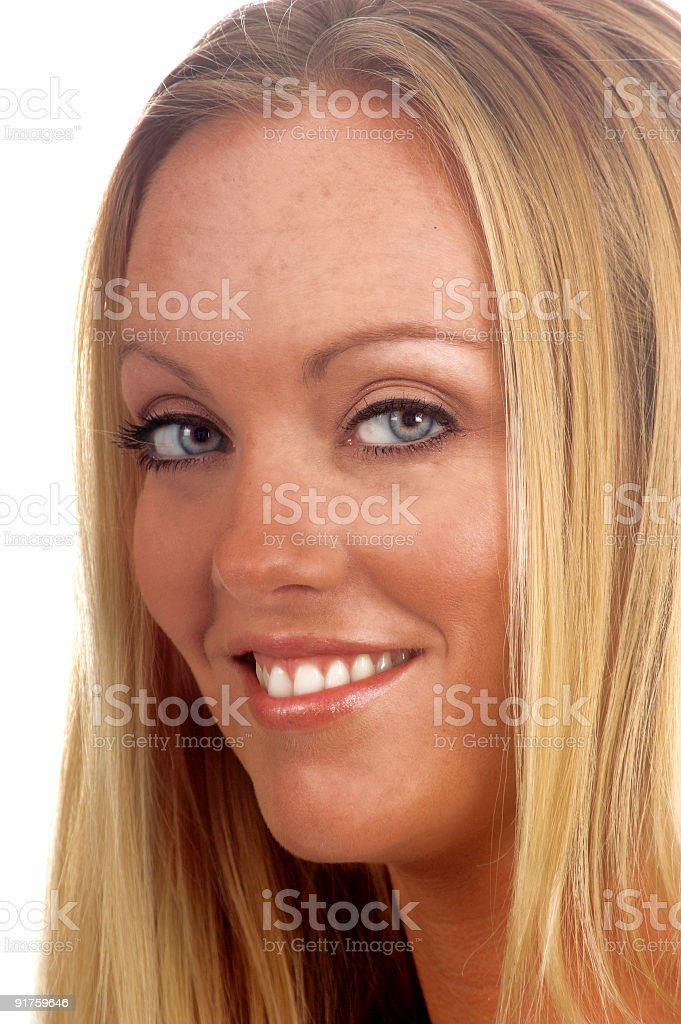 Up Close Blond royalty-free stock photo