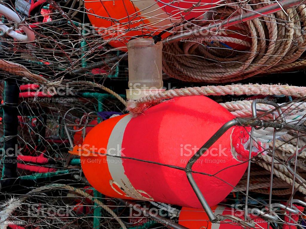 Up Close Crab Pot stock photo