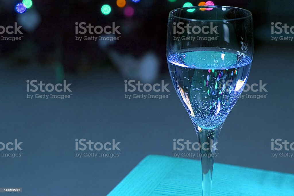 Up Close on a Wine Glass royalty-free stock photo