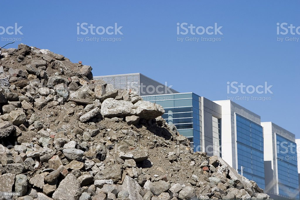 Up from the Rubble royalty-free stock photo