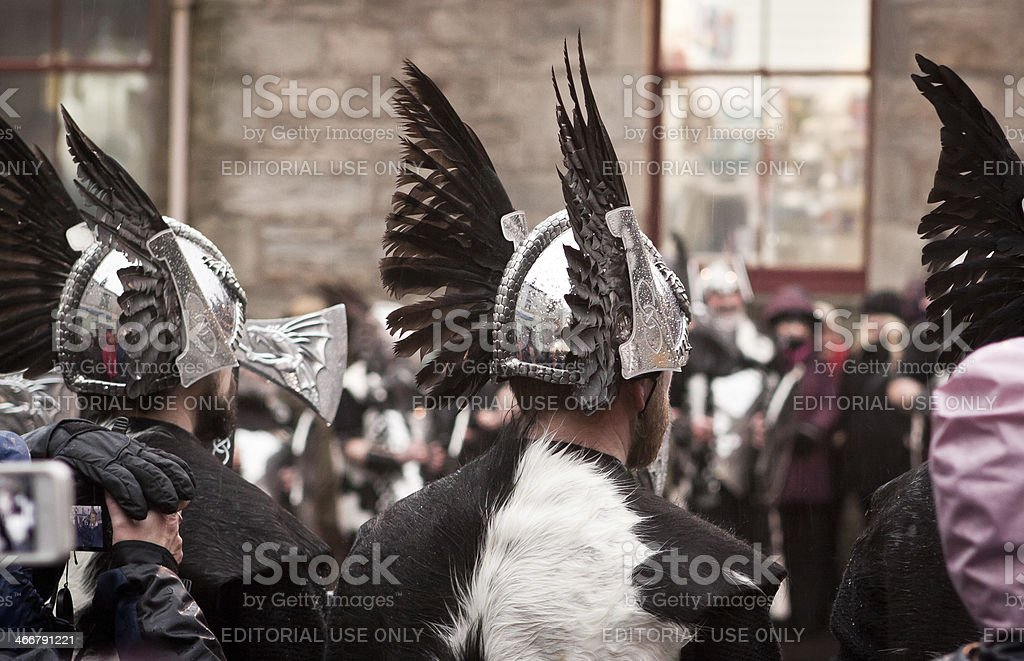 Up Helly A 2014 Vikings royalty-free stock photo