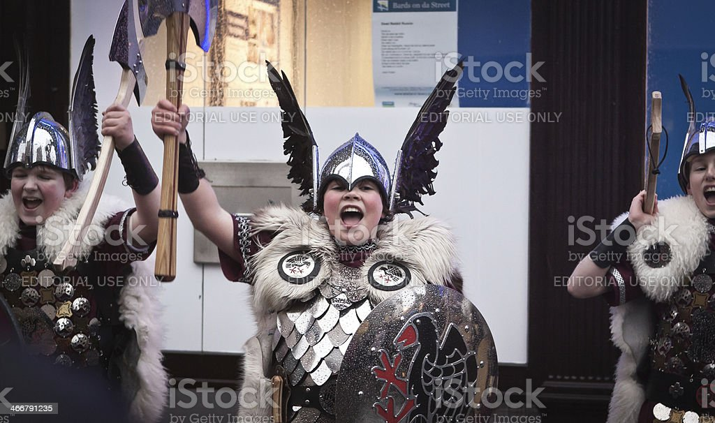 Up Helly Aa 2014 Junior Guizer Jarl royalty-free stock photo