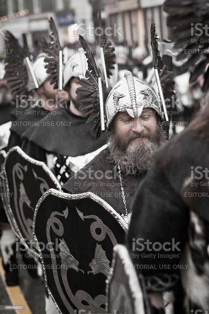 Up Helly Aa 2014 Vikings royalty-free stock photo