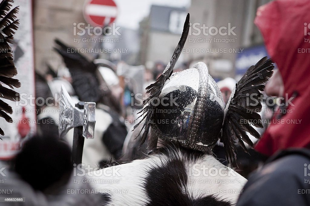 Up Helly Aa 2014 Vikings royalty-free stock photo