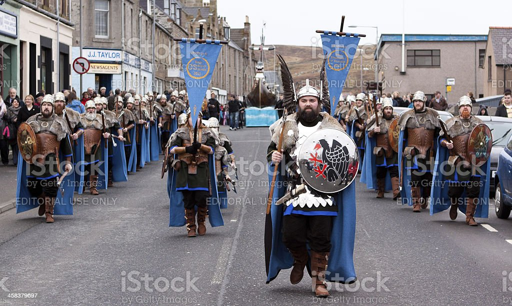 Up Helly Aa Day royalty-free stock photo