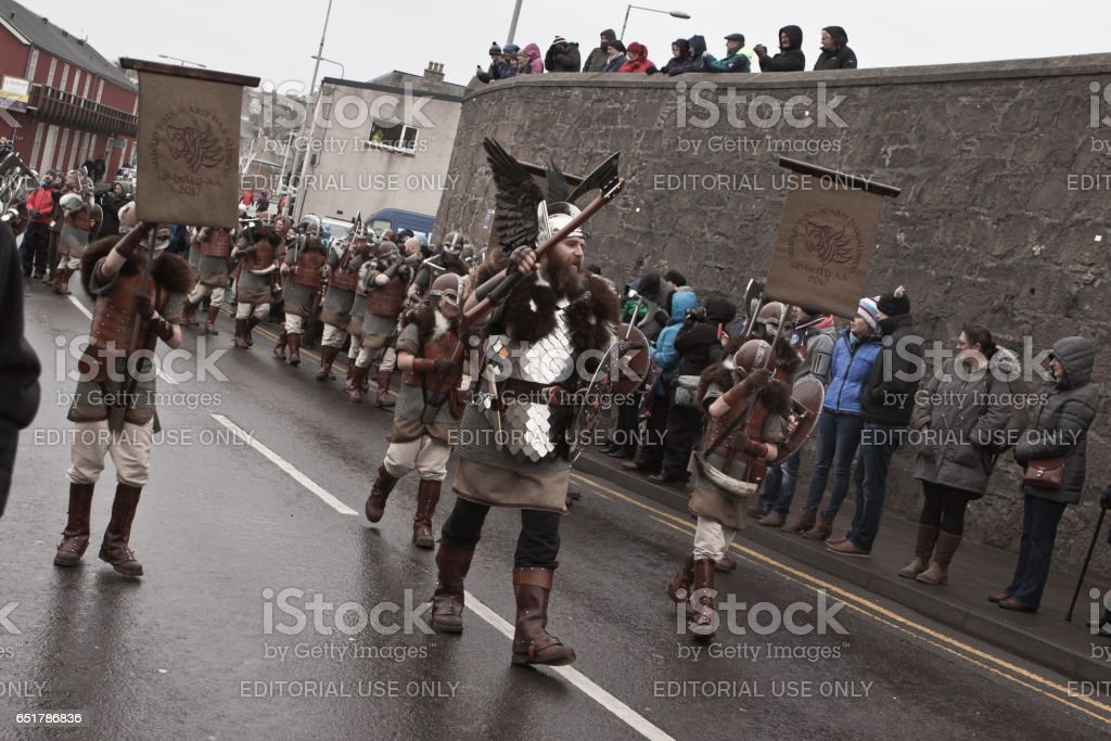 Up Helly Aa Guizer Jarl stock photo