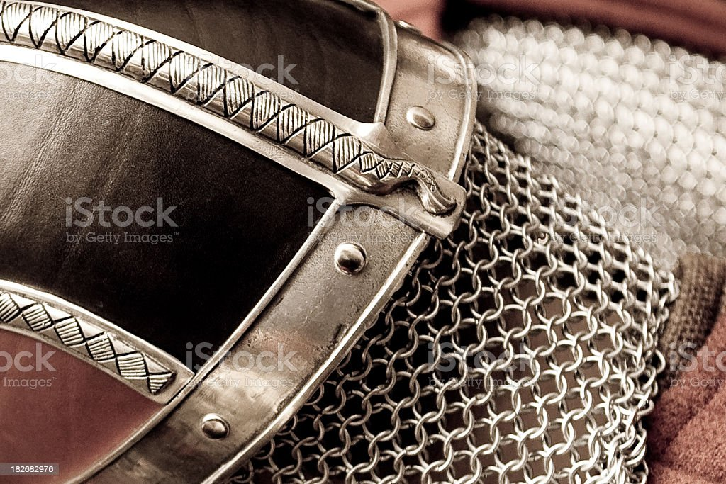 Up Helly Aa Viking Helmet royalty-free stock photo
