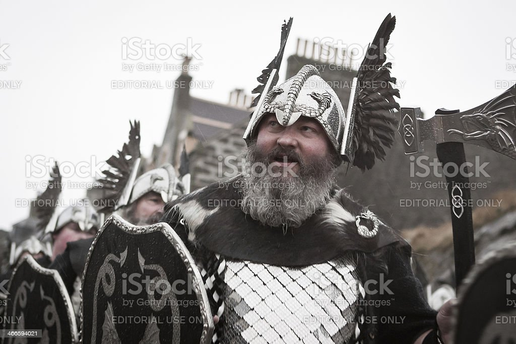 Up Helly Aa Vikings royalty-free stock photo