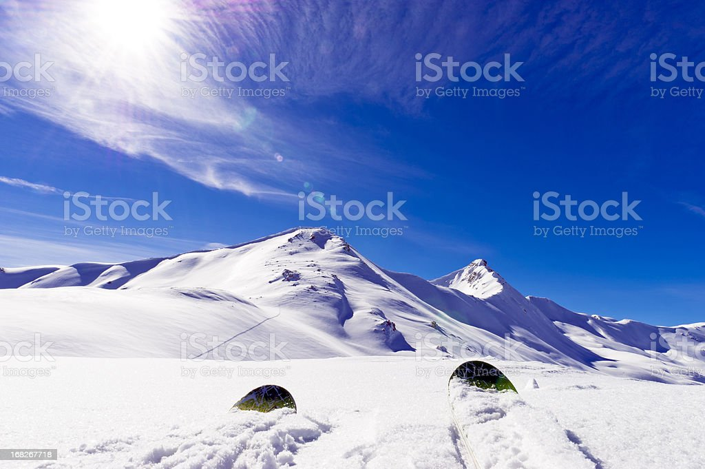 Up Hill Looking at Mountain royalty-free stock photo