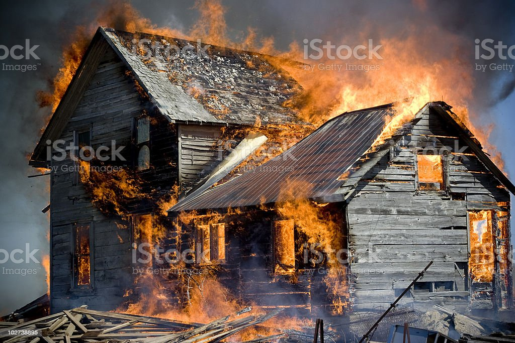 Up in Flames stock photo
