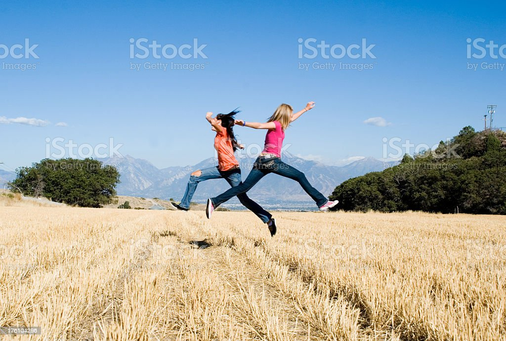 Up in the air royalty-free stock photo