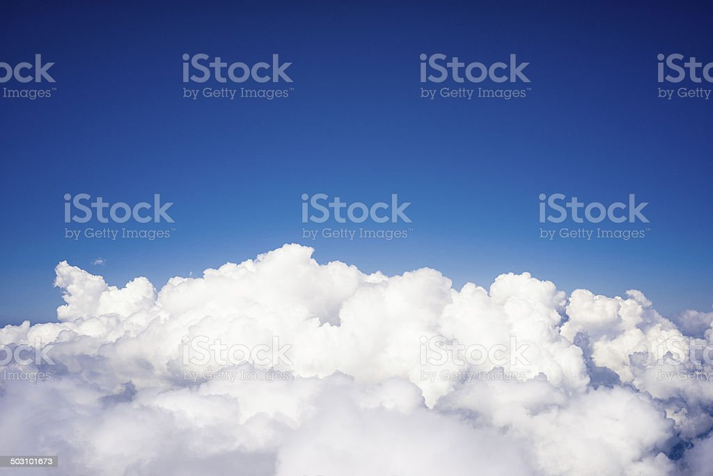 Up in the clouds stock photo