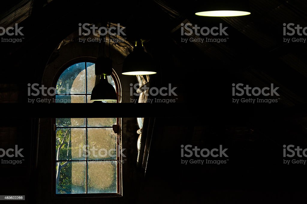 Up in the Warehouse stock photo
