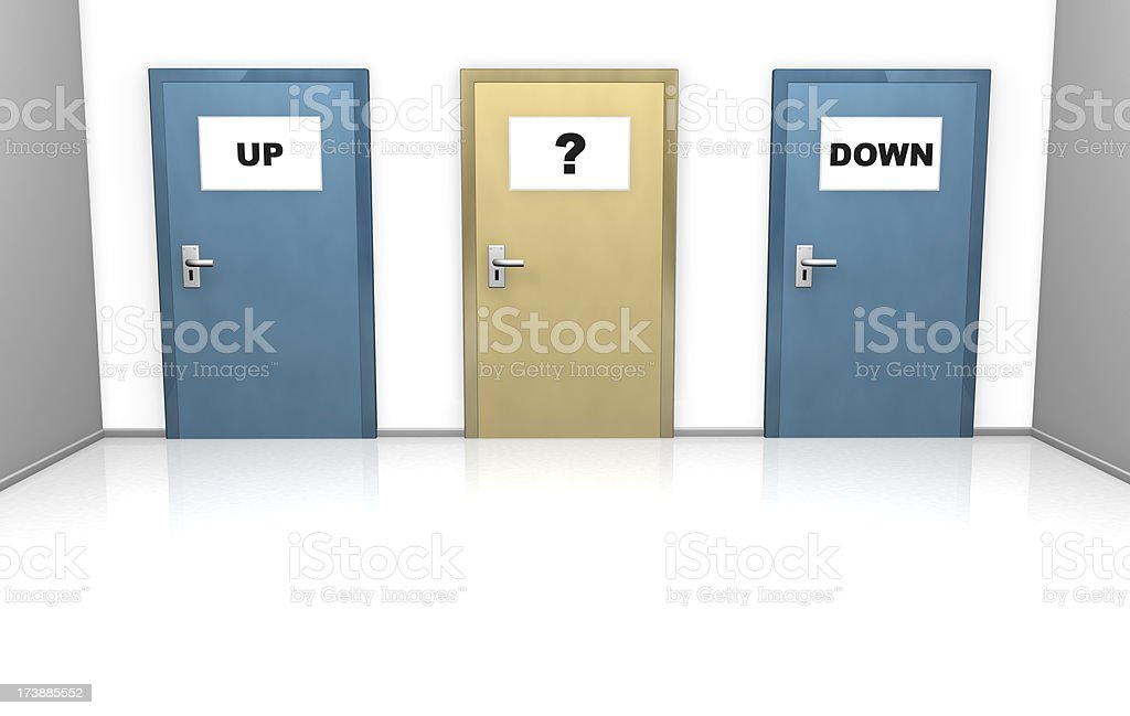 up or down, choose which way royalty-free stock photo