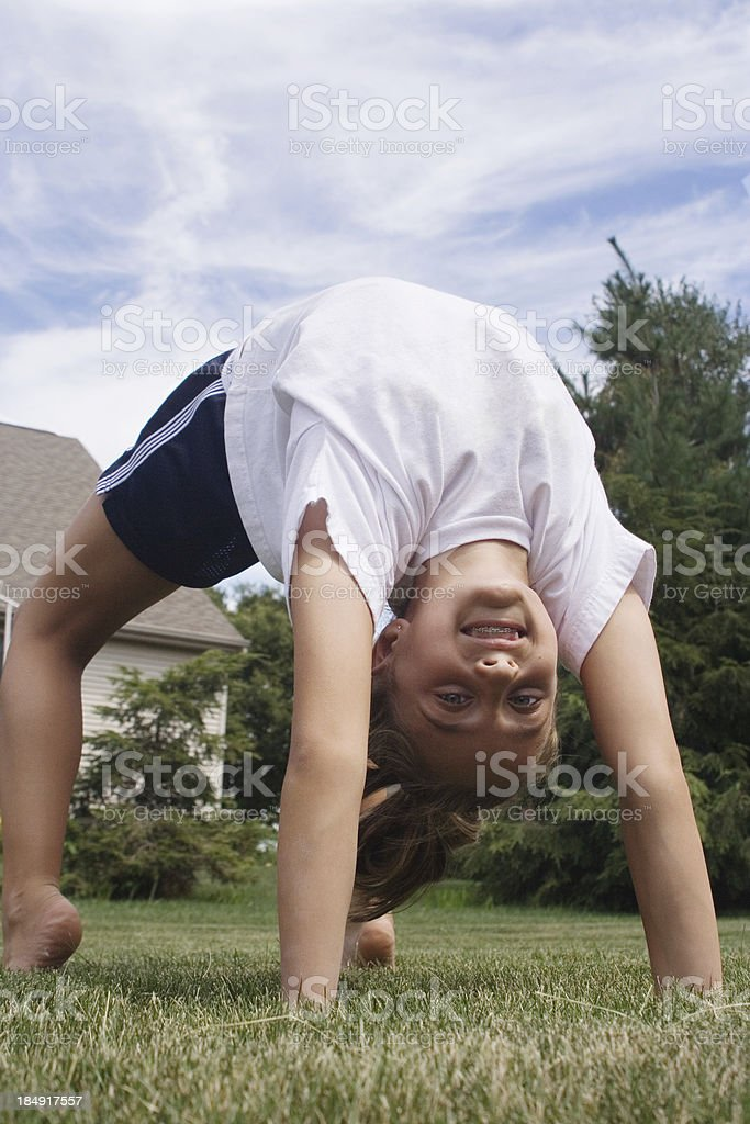 Up Side Down and Smiling! royalty-free stock photo