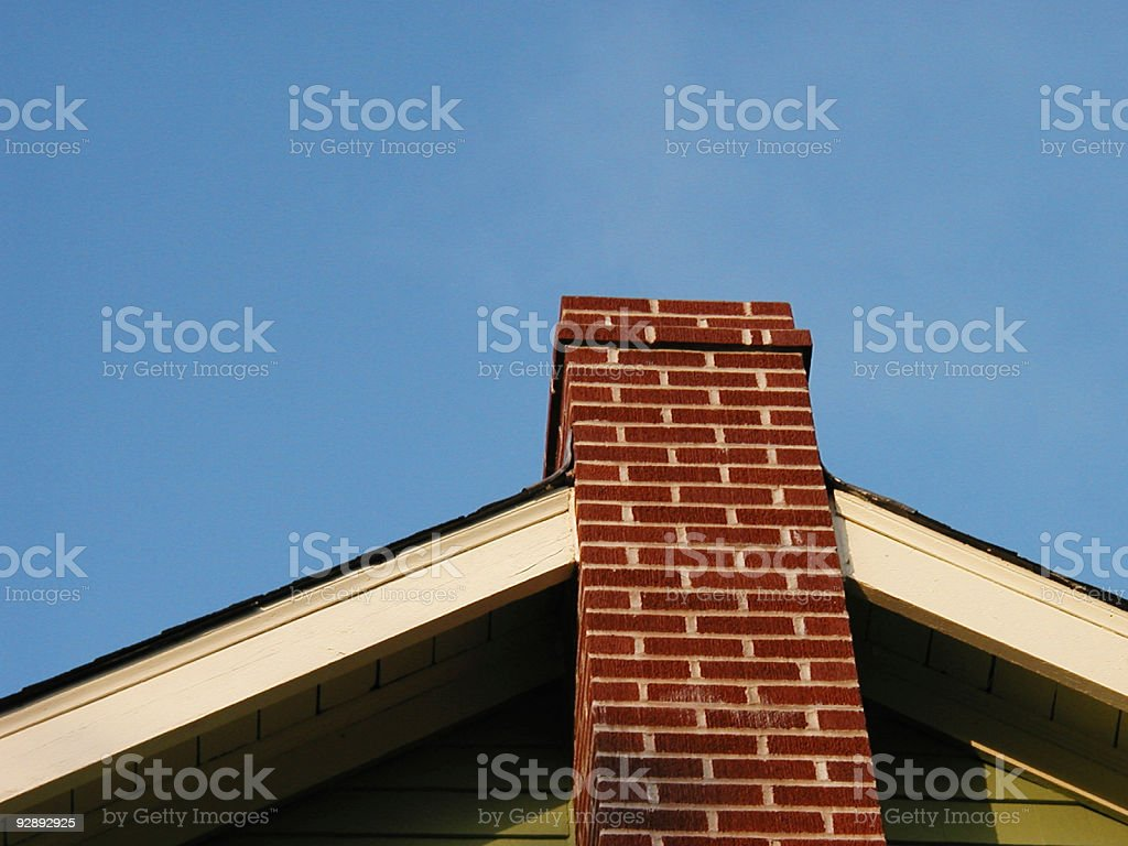 Up The Chimney royalty-free stock photo