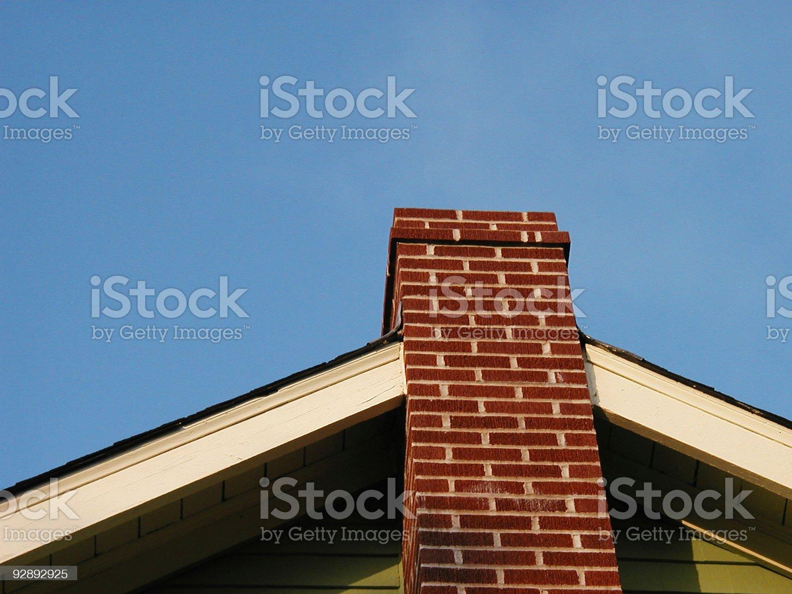 Up The Chimney royalty-free stock photo