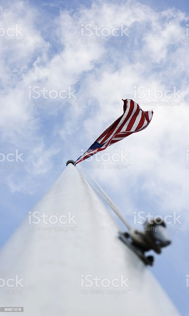 Up the Flag Pole royalty-free stock photo