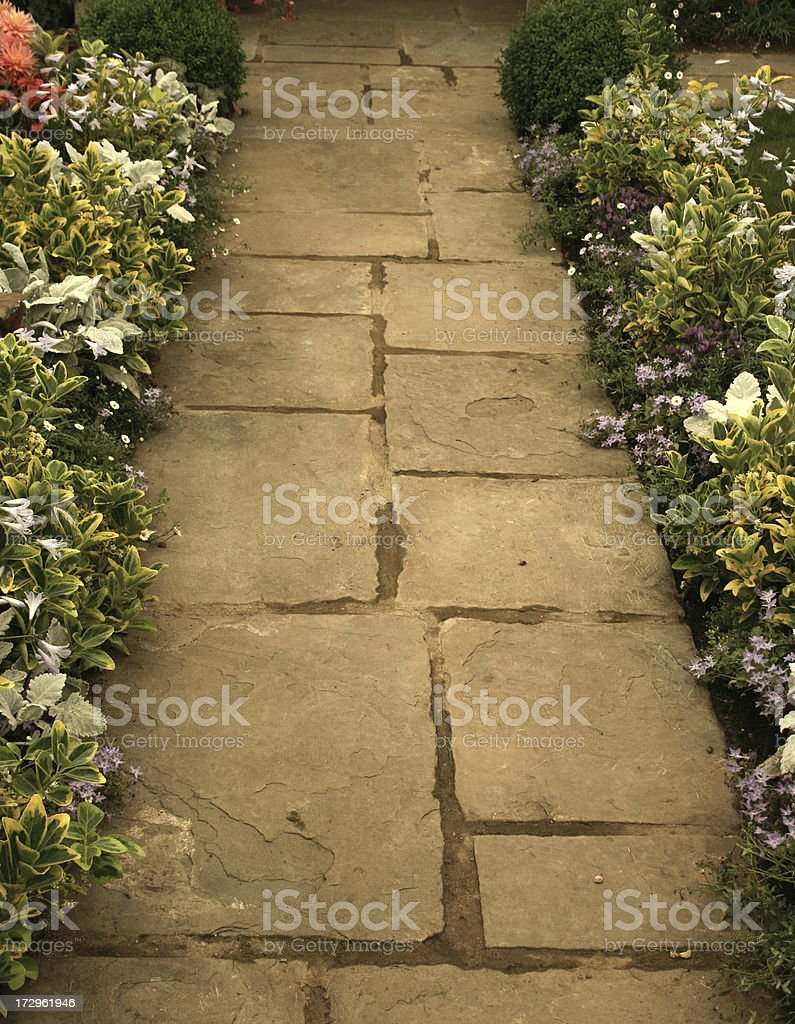 Up the garden path royalty-free stock photo