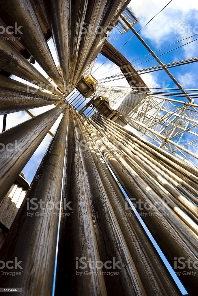 Up the Rig stock photo