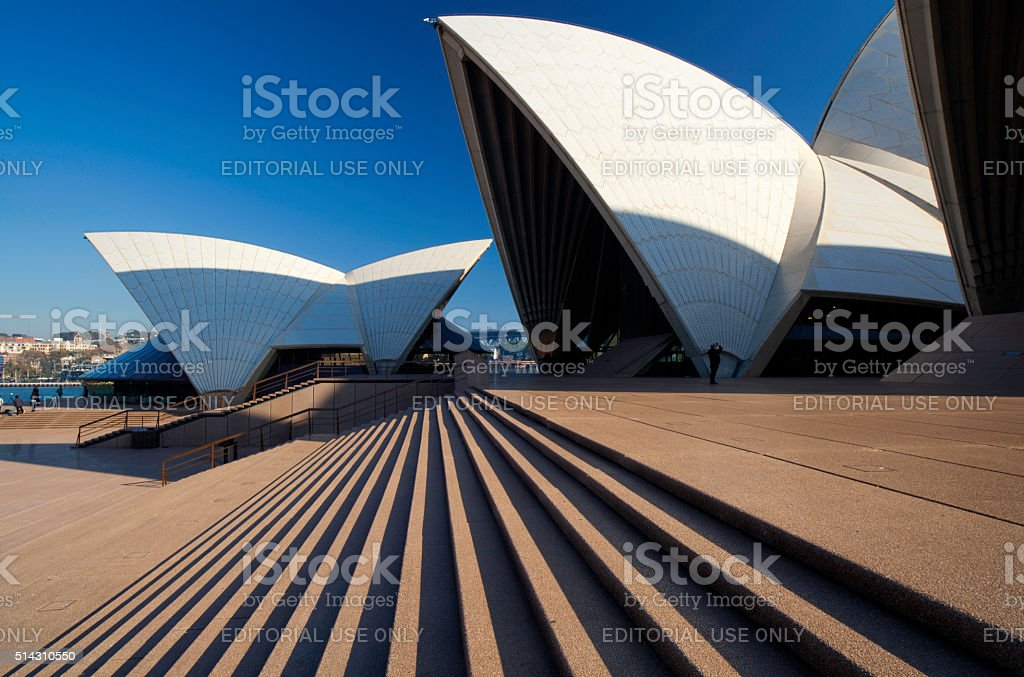 Up The Steps To Sydney Opera House stock photo