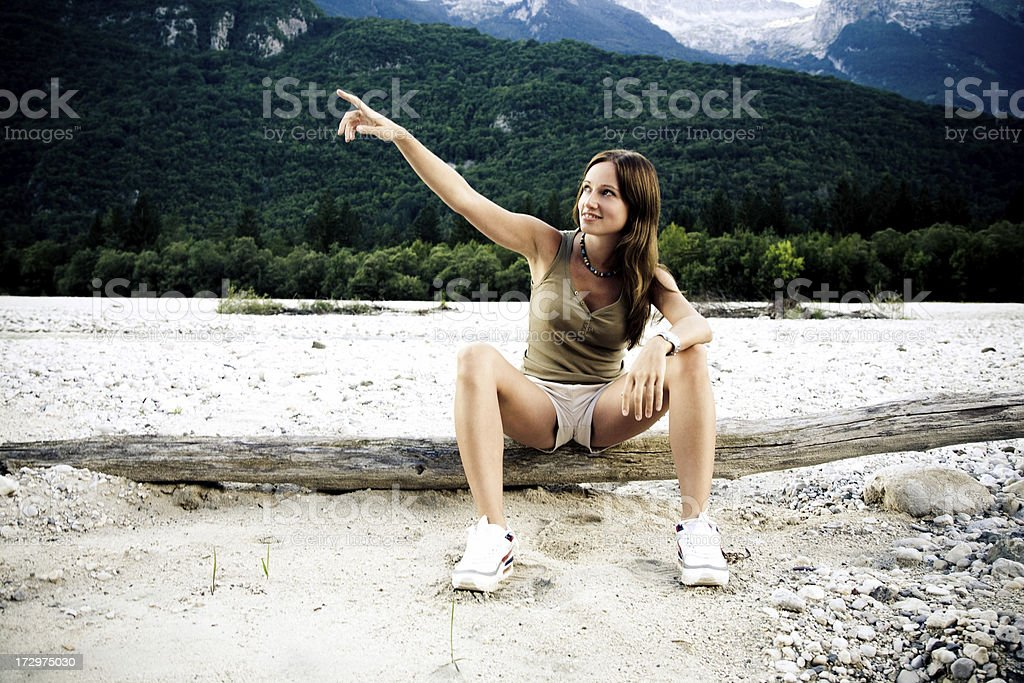 Up this hill. stock photo