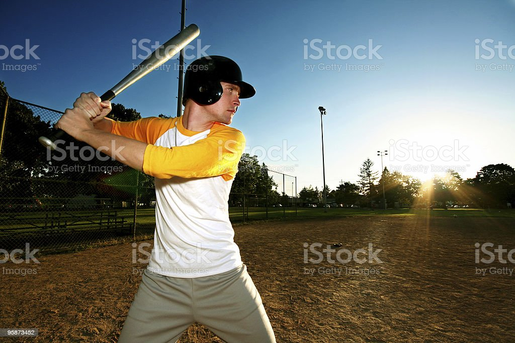up to bat stock photo