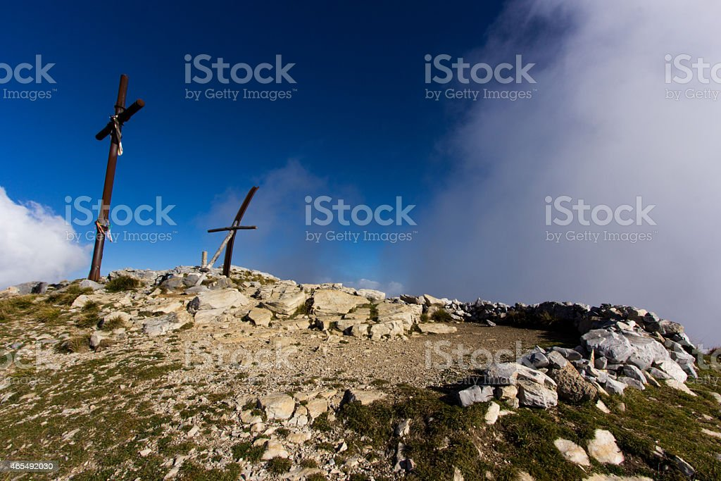 Up to the top stock photo