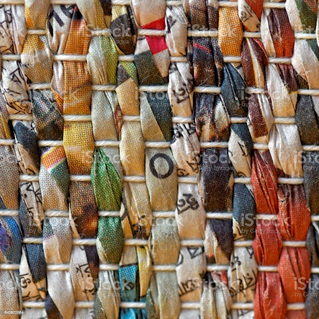 macro, old sheets of paper woven - S