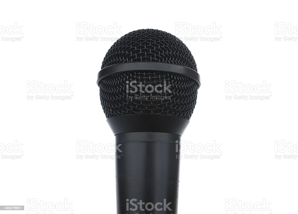Upclose Microphone On White Background stock photo