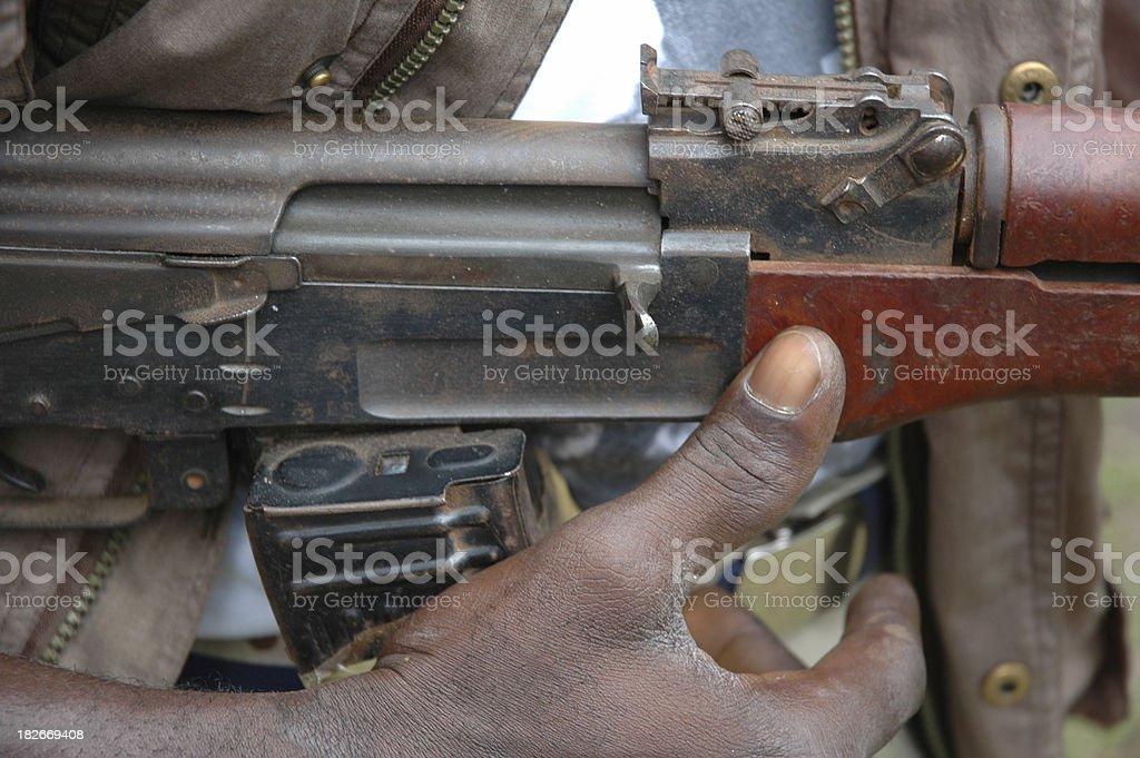 AK-47 Upclose - Rifle royalty-free stock photo