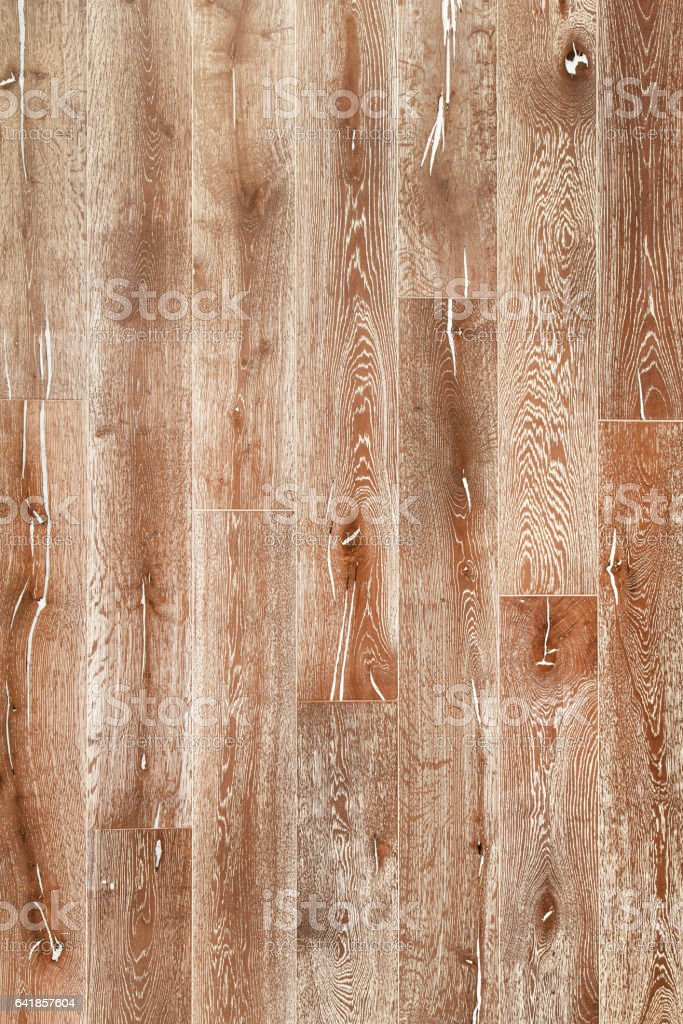 Up-Cycled Distressed Reclaimed Natural Oak Panelling stock photo