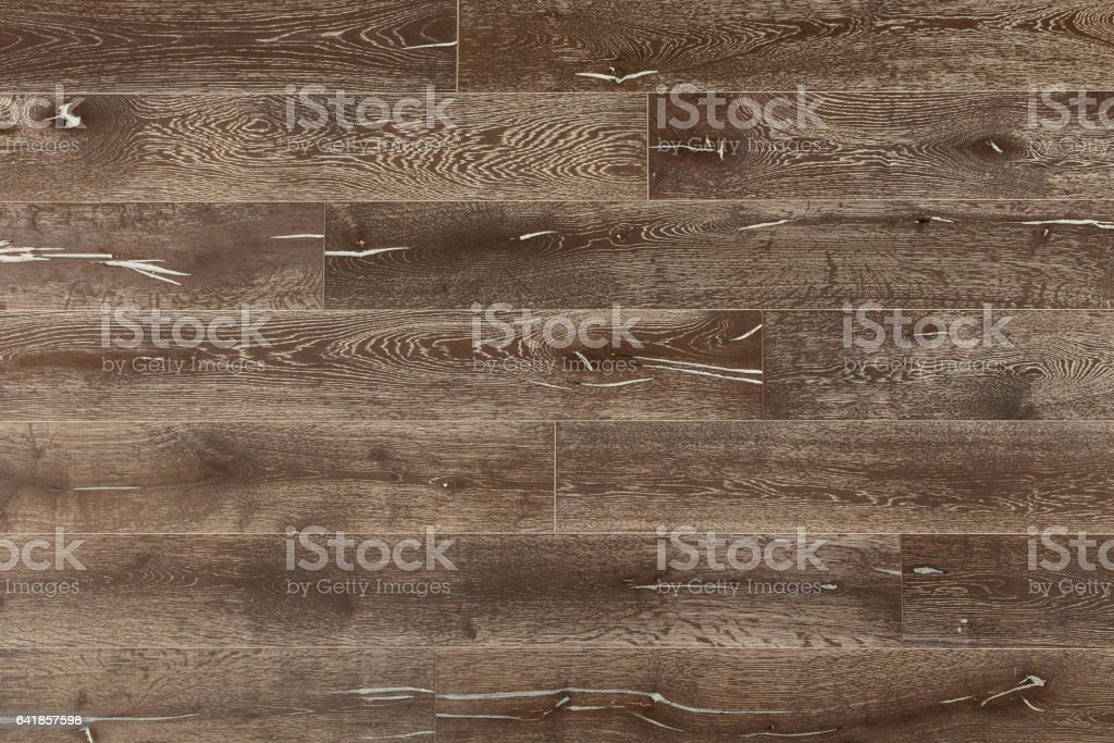 Up-Cycled Distressed Reclaimed Oak Panelling stock photo