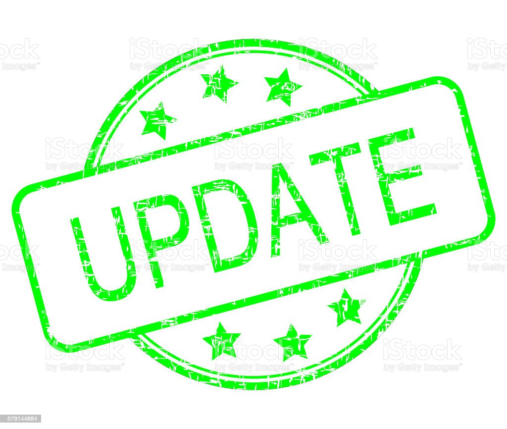 Update rubber stamp stock photo