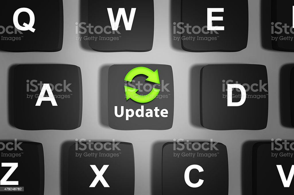 Update your software now! stock photo