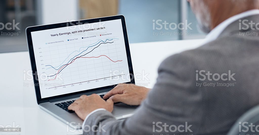 Updating the numbers stock photo