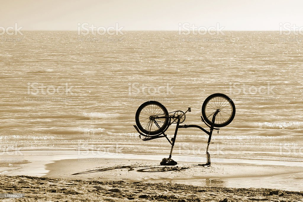 Up-ended respite royalty-free stock photo