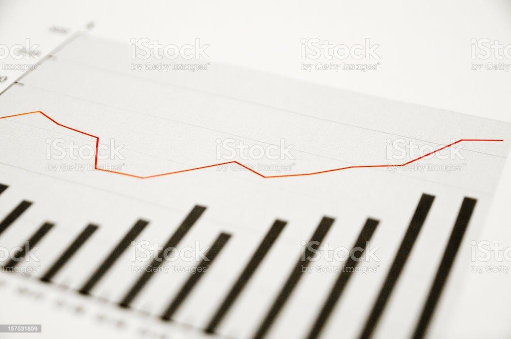 upgoing data graph stock photo