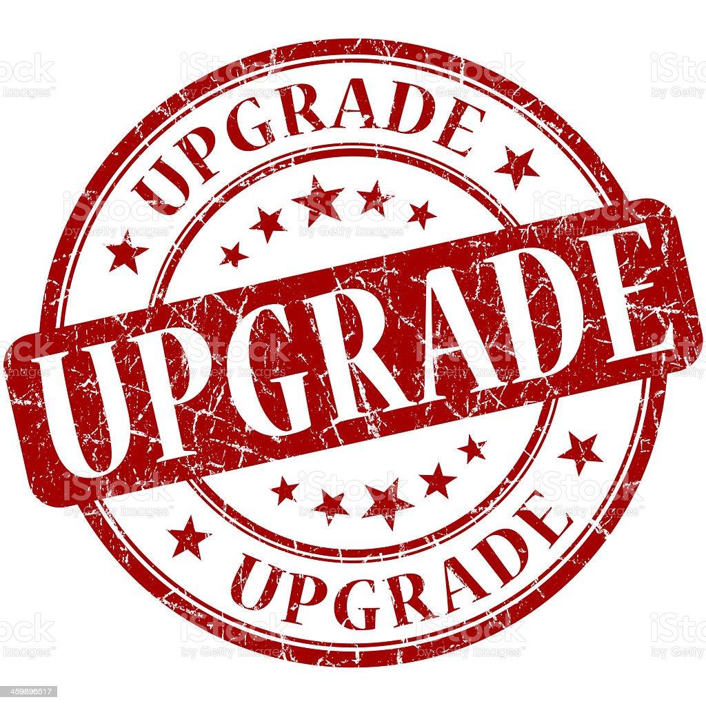 upgrade grunge round red stamp stock photo