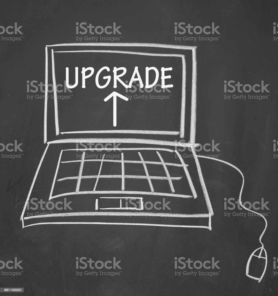 upgrade sign stock photo