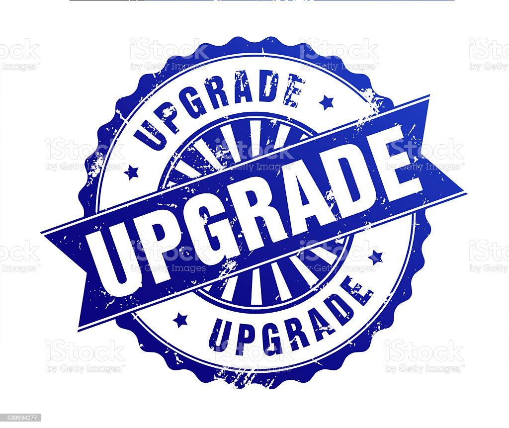 upgrade stamp stock photo