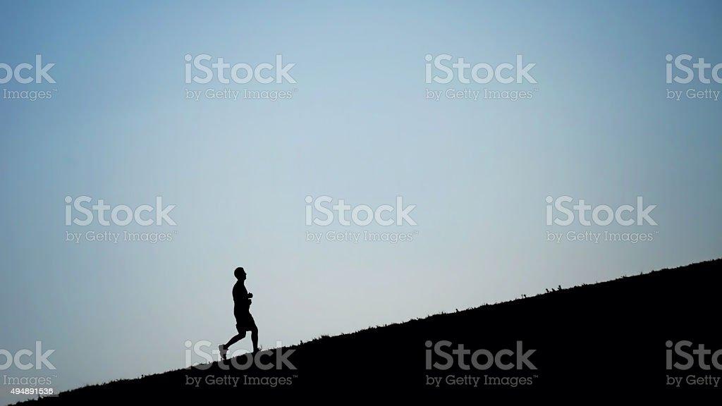 Uphill Climb stock photo