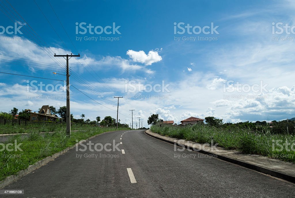 Uphill Country Road royalty-free stock photo