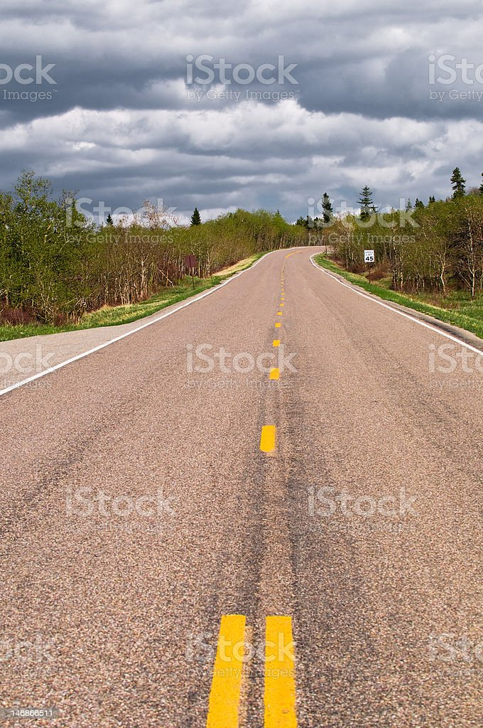 Up-Hill Journey stock photo